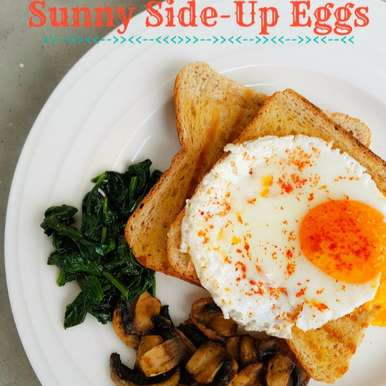 Photo of Sunny Side-Up Eggs with sautéed Mushrooms and Spinach by Priti Shetty Naiga at BetterButter