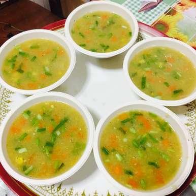 Photo of Sweet Corn Veg Soup by Priya Mani at BetterButter