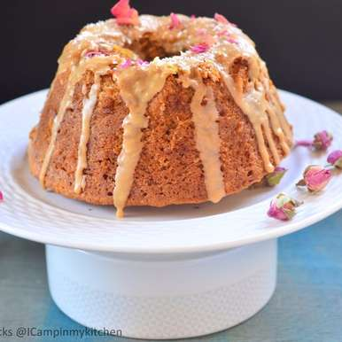 Photo of Coconut and Rose Syrup Bundt Cake by Priya Srinivasan at BetterButter
