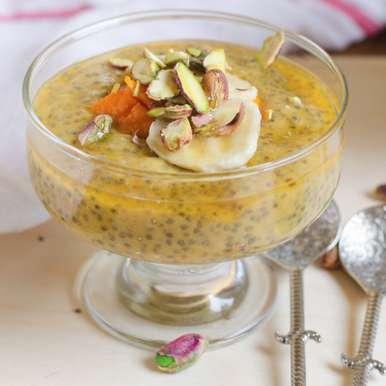 Photo of Mango Muskmelon & Chia Seeds Pudding by Priya Srinivasan at BetterButter