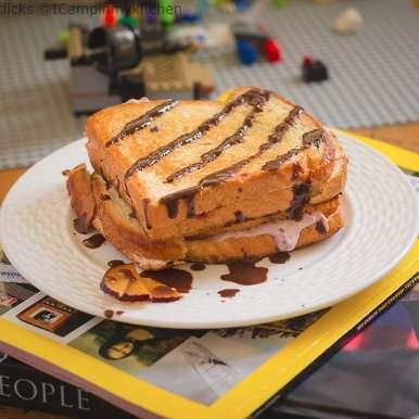Photo of Plum Cheesecake sandwich by Priya Srinivasan at BetterButter