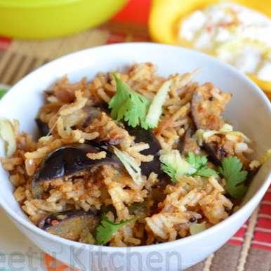 Photo of Brinjal Rice by Priya Srinivasan at BetterButter