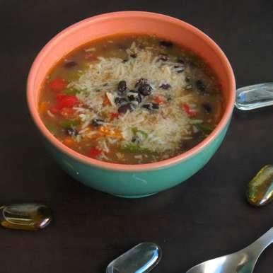 Photo of Cheesy Black Bean Soup by Priya Suresh at BetterButter