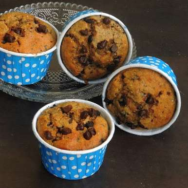 Photo of Chia Seeds & Chocolate Chips Rye Muffins by Priya Suresh at BetterButter