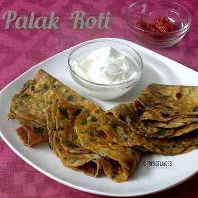 Spinach Chapati/  Palak roti, How to make Spinach Chapati/  Palak roti