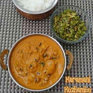 Photo of Karamani Kuzhambu / Lobia Gravy by Priya Tharshini at BetterButter
