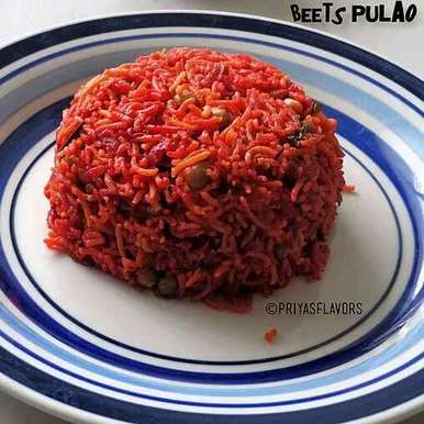 Beetroot Peas Pulao, How to make Beetroot Peas Pulao