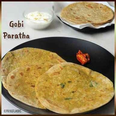 Gobi Paratha recipe in Tamil,கோபி பராத்தா, Priya Tharshini