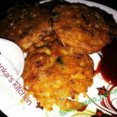Photo of Spicy Potato Pancake by Priyanka Barua Chakraborty at BetterButter