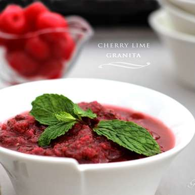 Photo of Cherry Lime Granita by Priyanka Mukherjee at BetterButter