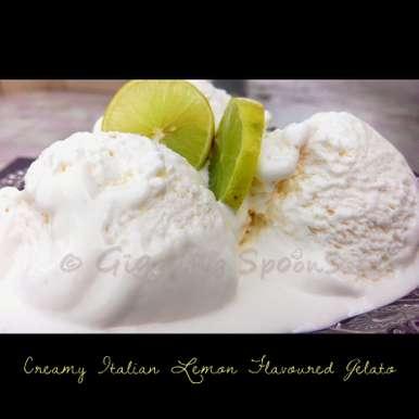 Photo of Creamy Italian Lemon Flavoured Gelato by Priyanka Mukherjee at BetterButter