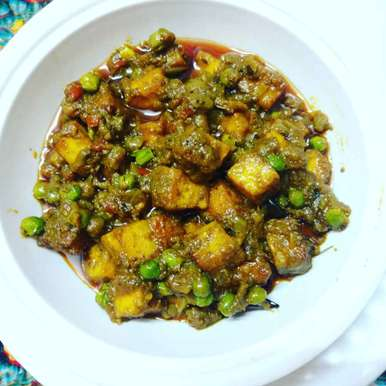 Photo of Matar paneer. by Priyanka Nandi Sarkar at BetterButter