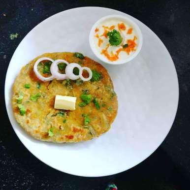 Photo of Carrot masala paratha. by Priyanka Nandi Sarkar at BetterButter