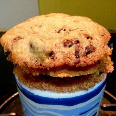Photo of Malted Dark Chocolate Chunk Eggless Cookies by Aishwarya Lahiri Khanna at BetterButter
