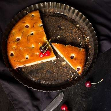 Photo of Vanilla Cherry Cake by Chandrima Sarkar at BetterButter