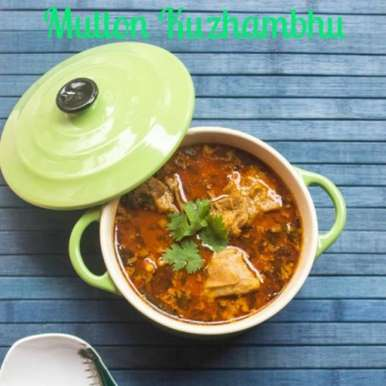 Photo of Aattu Erachi Anam/ Mutton Kuzhlambhu - Mutton cooked in Spicy Coconut Milk Gravy [Pressure Cooker Method] by Kishorah Zaufer at BetterButter