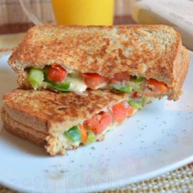 Mixed Vegetable and Cheese Sandwich, How to make Mixed Vegetable and Cheese Sandwich