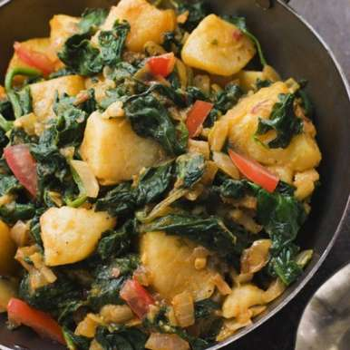 Aloo Palak, How to make Aloo Palak