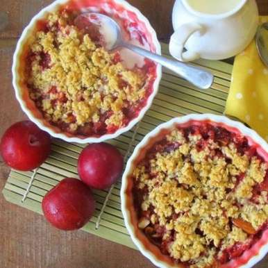 Photo of Plum & Almond Crumble by Ruchira Hoon at BetterButter