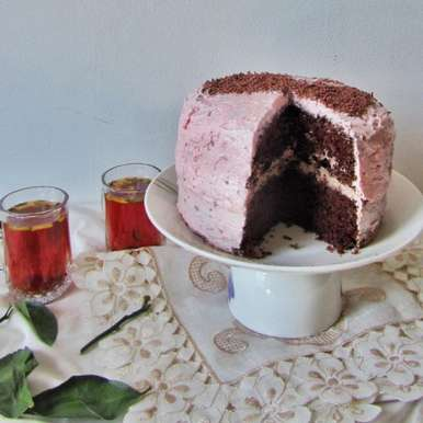 Photo of Chocolate Chiffon Cake with Buttercream Frosting. by Tasneem Rajkotwala at BetterButter