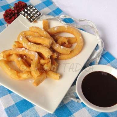 Photo of Eggless Churros with Chocolate Sauce by Preeti Garg at BetterButter