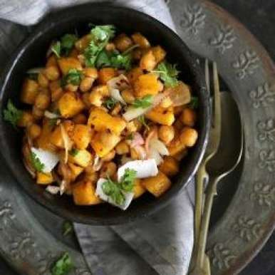 Photo of Roasted Pumpkin and Chickpea Salad by Deeba Rajpal at BetterButter