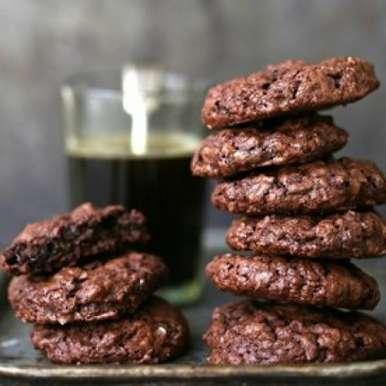 Wholewheat & Oat Dark Chocolate Brownie Cookies, How to make Wholewheat & Oat Dark Chocolate Brownie Cookies