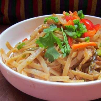 Photo of Thai Noodles with Spicy Peanut Sauce by Archana Potdar at BetterButter