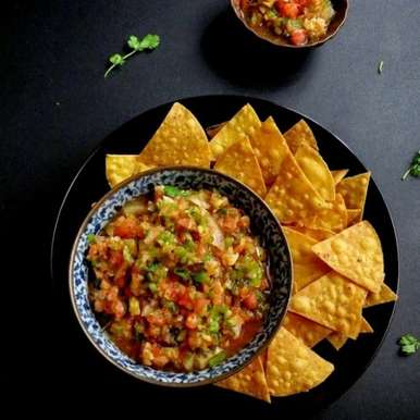 Photo of Roasted Tomato and Bell Pepper Salsa by Anjana Chaturvedi at BetterButter