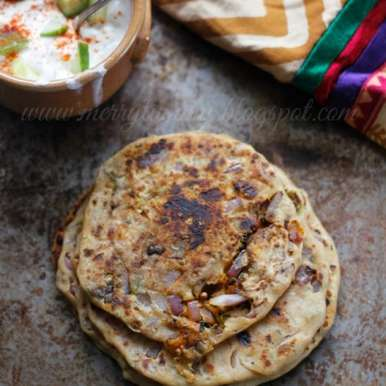 Photo of Stuffed Onion Paratha by Shweta Agrawal at BetterButter