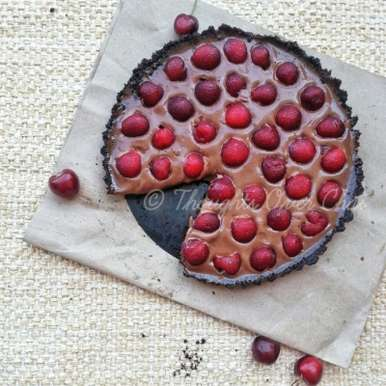 Photo of No Bake Cherry Tart by Tasneem Rajkotwala at BetterButter