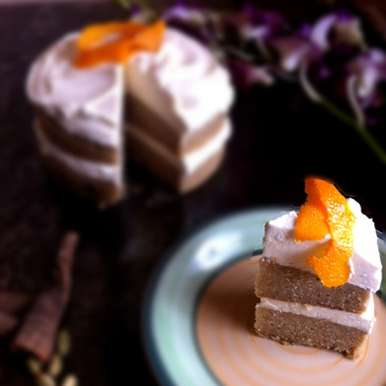 Photo of Chai Cake with Ginger-Orange Buttercream Icing by Vijetha Rangabashyam at BetterButter