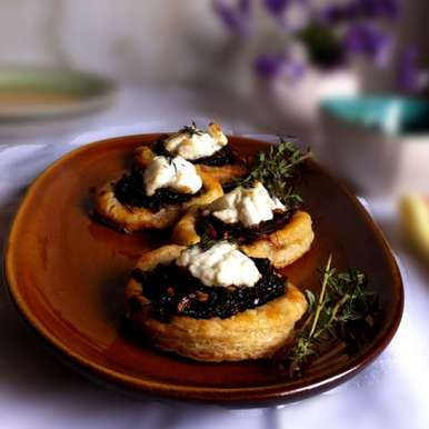 Photo of Goat's Cheese Tart with Onion Jam by Vijetha Rangabashyam at BetterButter