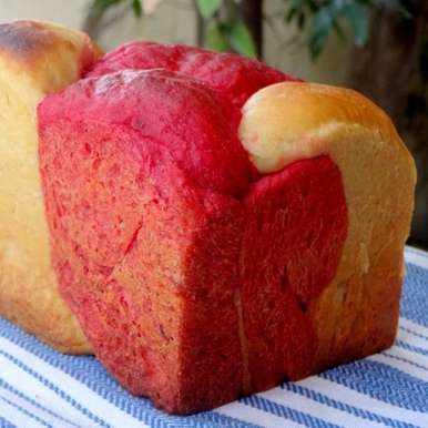 Photo of Braided Beet Swirl Bread by Namita Tiwari at BetterButter