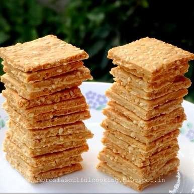 Photo of Whole Wheat Sesame Crackers (Vegan) by Namita Tiwari at BetterButter