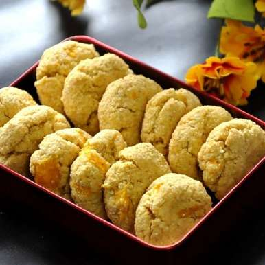 Photo of Oats,Kodomillet and Mango Crinkle Cookies by Praba Bubesh at BetterButter