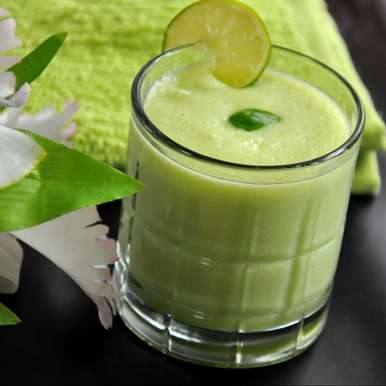 Photo of Honeydew Basil Lime Juice by Praba Bubesh at BetterButter