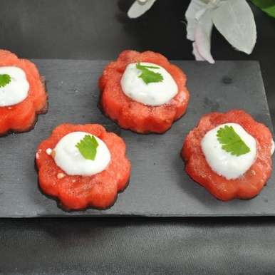 Watermelon Canapes, How to make Watermelon Canapes