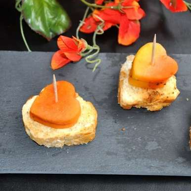 Papaya Canapes, How to make Papaya Canapes