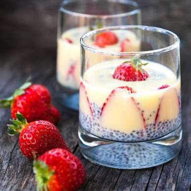 Strawberry and chia seeds pudding, How to make Strawberry and chia seeds pudding
