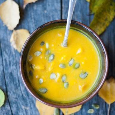 Photo of Pumpkin soup with turmeric by Gabriela Lupu at BetterButter