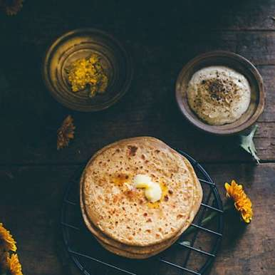 Photo of ROASTED BLACK GRAM FLOUR & OATS STUFFED FLATBREAD by Just Roy at BetterButter