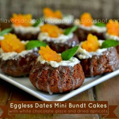 Photo of Eggless Butterless Dates Mini Bundt Cakes by Aparna Bhat at BetterButter