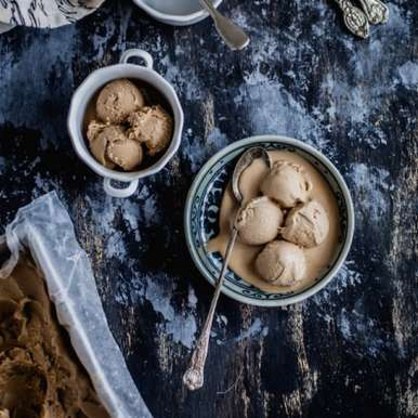 Date Palm Jaggery Ice Cream, How to make Date Palm Jaggery Ice Cream