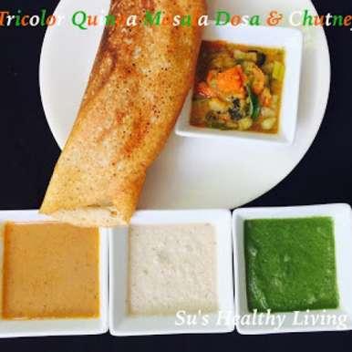 Photo of Tricolor Quinoa Masala Dosa by Suchitra Kamath at BetterButter