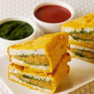 Bread Pakora recipe in Tamil,பிரெட் பகோடா, Salma Godil