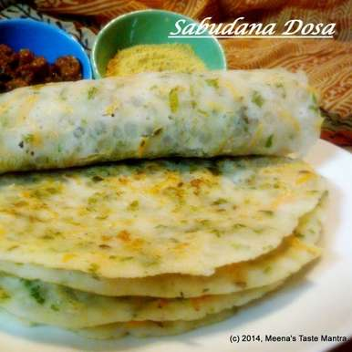 Photo of Javvarisi Dosa | Sabudana Dosa | Tapioca Pearls Crepe by Meena C R at BetterButter