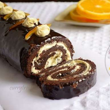 Photo of Chocolate Roulade with Orange-Vanilla Filling by Jyothi Rajesh at BetterButter