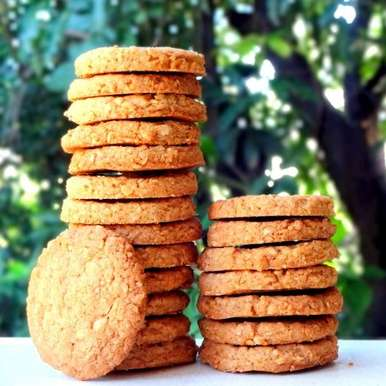 Photo of Whole Wheat Oats and Almond Cookies by Namita Tiwari at BetterButter
