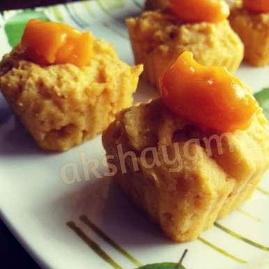 Photo of Eggless Mango cupcakes by Krithika Chandrasekaran at BetterButter